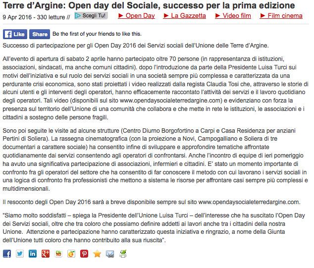 Modena 2000 | Terre d'Argine: Open day del Sociale, successo per la prima edizione 2016-04-18 15-33-58